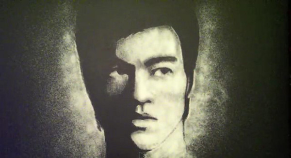 Salt Art : Passe moi le sel - Bruce Lee