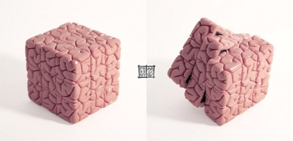 Des Rubik's Cube différents - rubiks-cube-embedded-in-a-brain
