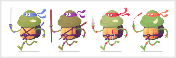 Illustration Tortues Ninja