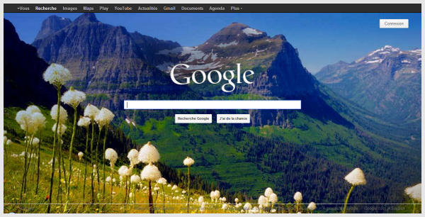 Bing wallpaper for Google homepage