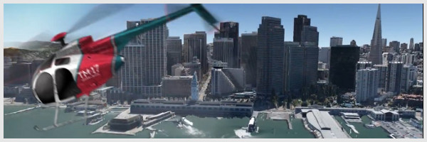 San Francisco en 3D dans Google Earth