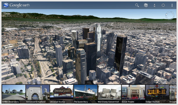 Le nouvel affichage 3D de Google Earth