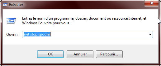 Vider la file d'attente d'impression Windows