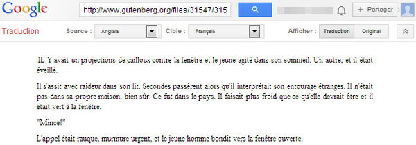 Traduction en ligne : un bookmarklet pour Google traduction