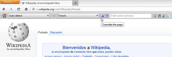 Firefox translate page