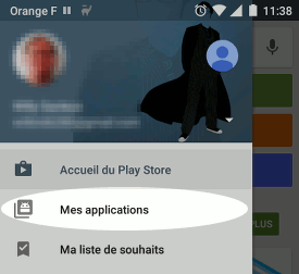 Supprimer une application de la liste Mes applications du Play Store