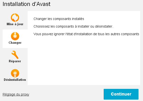 Supprimer Avast Online Security / Modifier installation