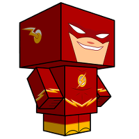 The Flash Cubeecraft : personnages en papier pour adultes régressifs
