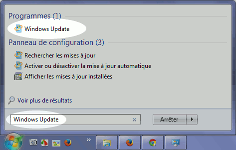 Empêcher le retour de la notification - Windows Update
