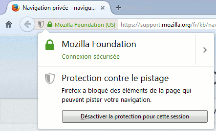 Firefox 42 : protection contre le pistage