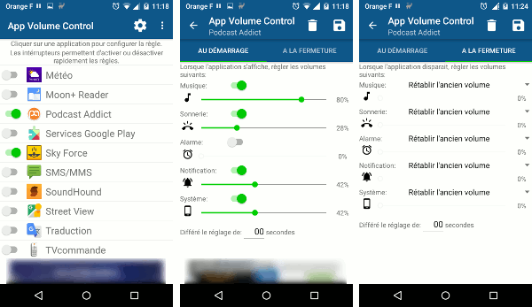 Ajuster automatiquement le volume de chaque application Android