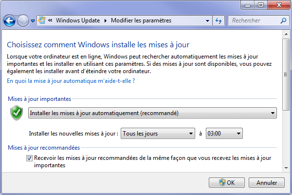 Microsoft modifie les paramètres de Windows Update sans mon consentement