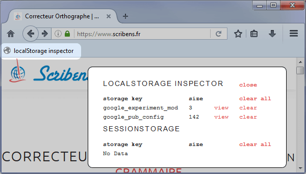 The localStorage inspector bookmarklet